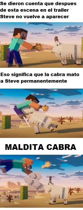 Steve volando XD Ojala te coman los aldeanos estupida cabra mataste al protaginista :son: - meme