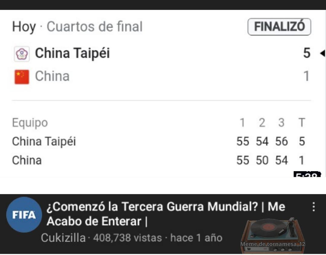 China Taipei es Taiwan - meme