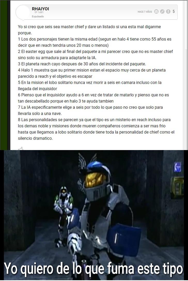 Estaba buscando info del porque el Master Chief no sale en el Halo Reach (Si está en el planeta) y me ecuentro con esta webada  :facepalm: - meme