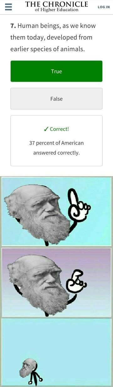 Evolution is real - meme