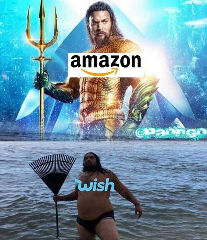 Amazon vs Wish - meme