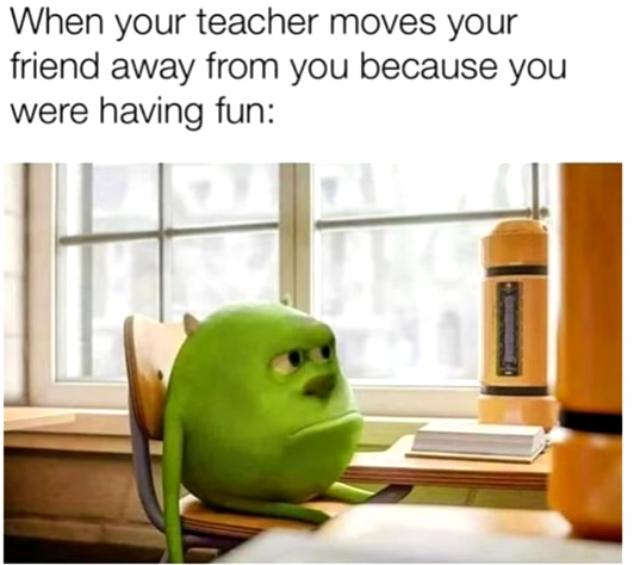 We are now so upset we refuse to do homework - meme