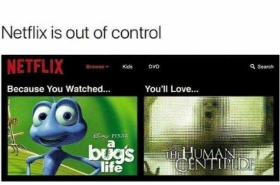 Netlix has always been out of control - meme