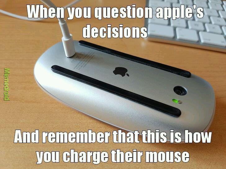 Apple logic. - meme