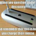 Apple logic.