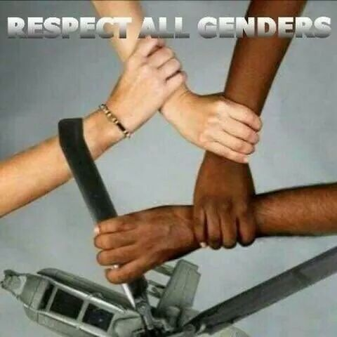 Respect both genders. Male and Attack Helicopter - meme