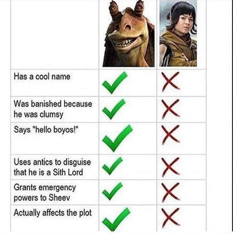 I like the last jedi - meme