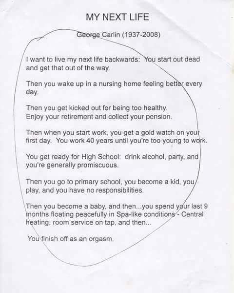 Curious case of George Carlin... - meme