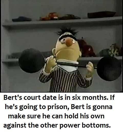 Good luck Bert - meme