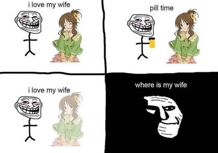 Le wife gone :( - meme