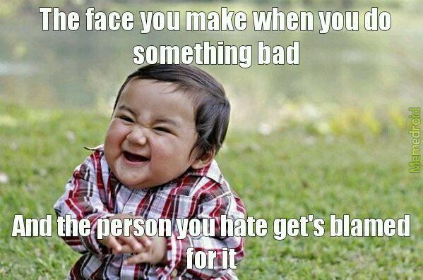 Savage toddler - meme