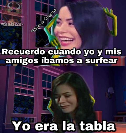 Miranda la tabla - meme