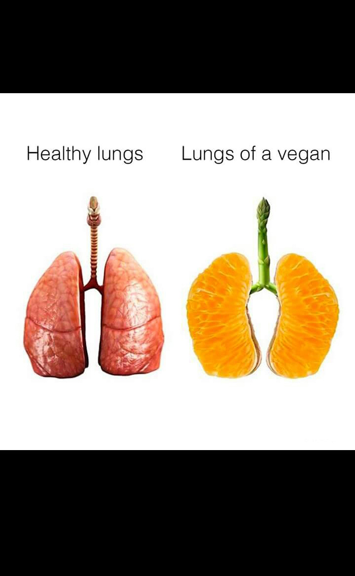 Vegan lungs.. - meme