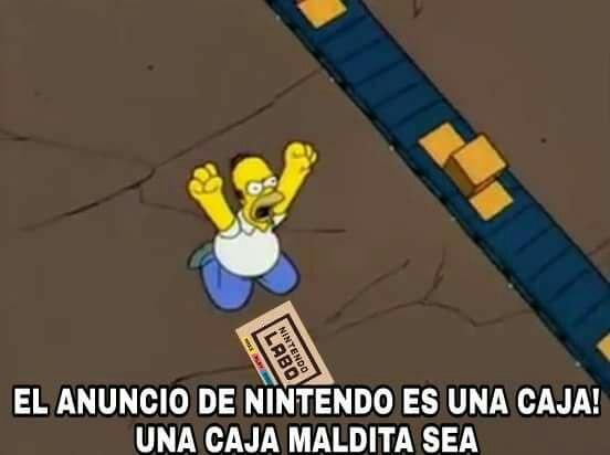 Nos venden cartón - Nintendo Labo - Homer Simpson - meme