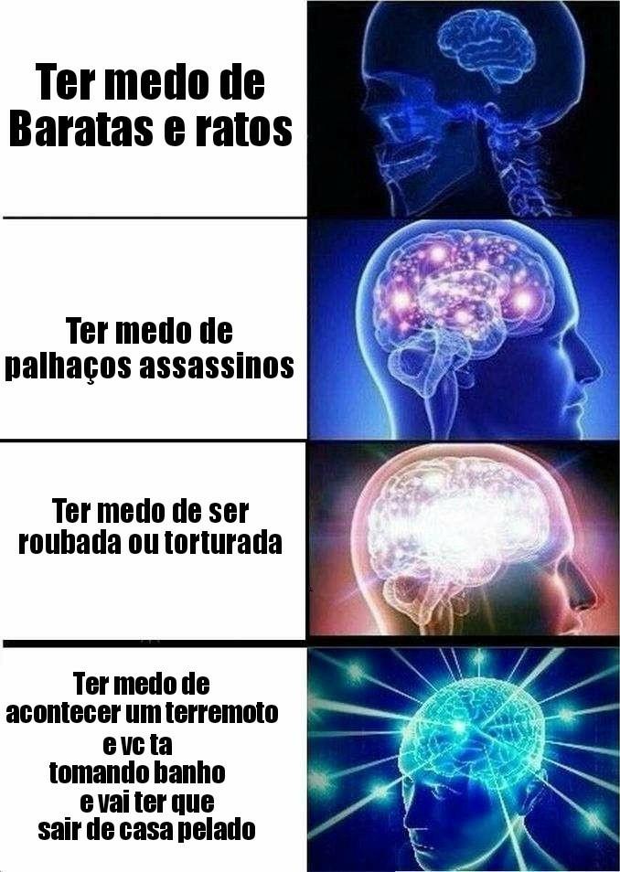 Bom que no Brasil n tem terremoto - meme