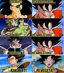 His name is goku - meme