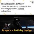 Wikipedia deserves it