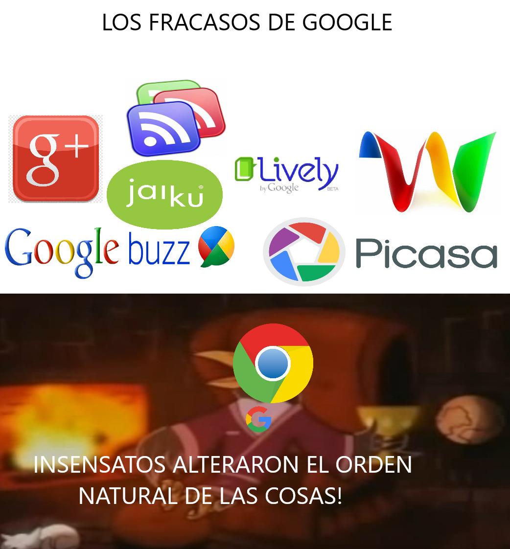 LOS FRACASOS DE GOOGLE - meme