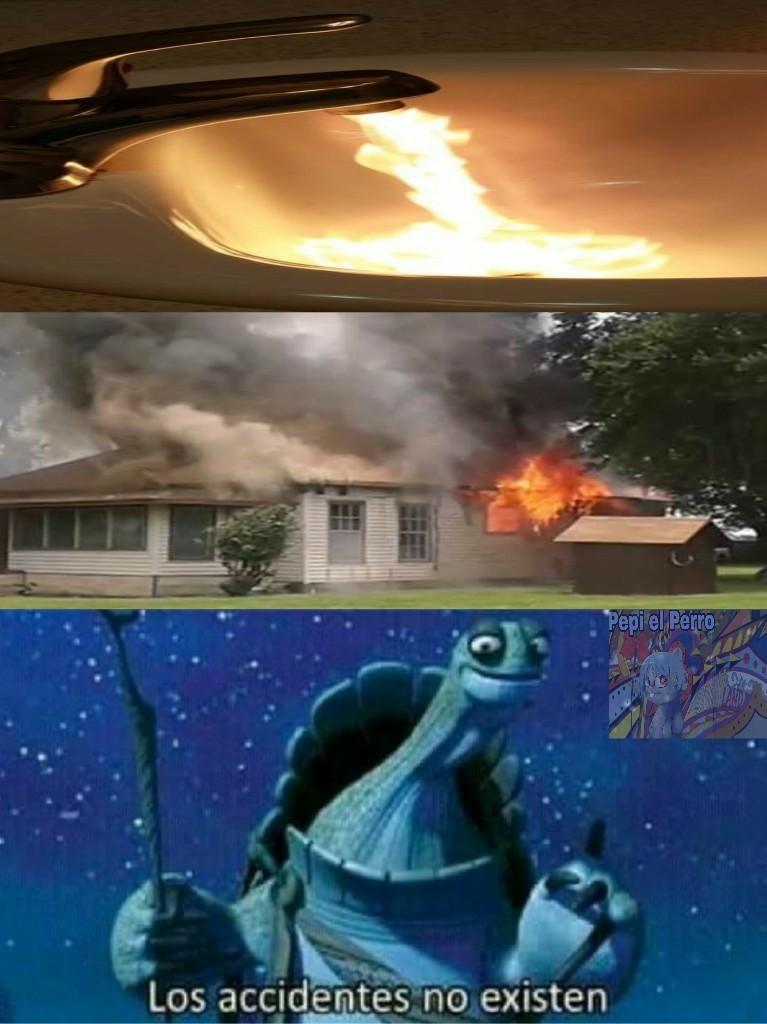 El título salió quemado - meme