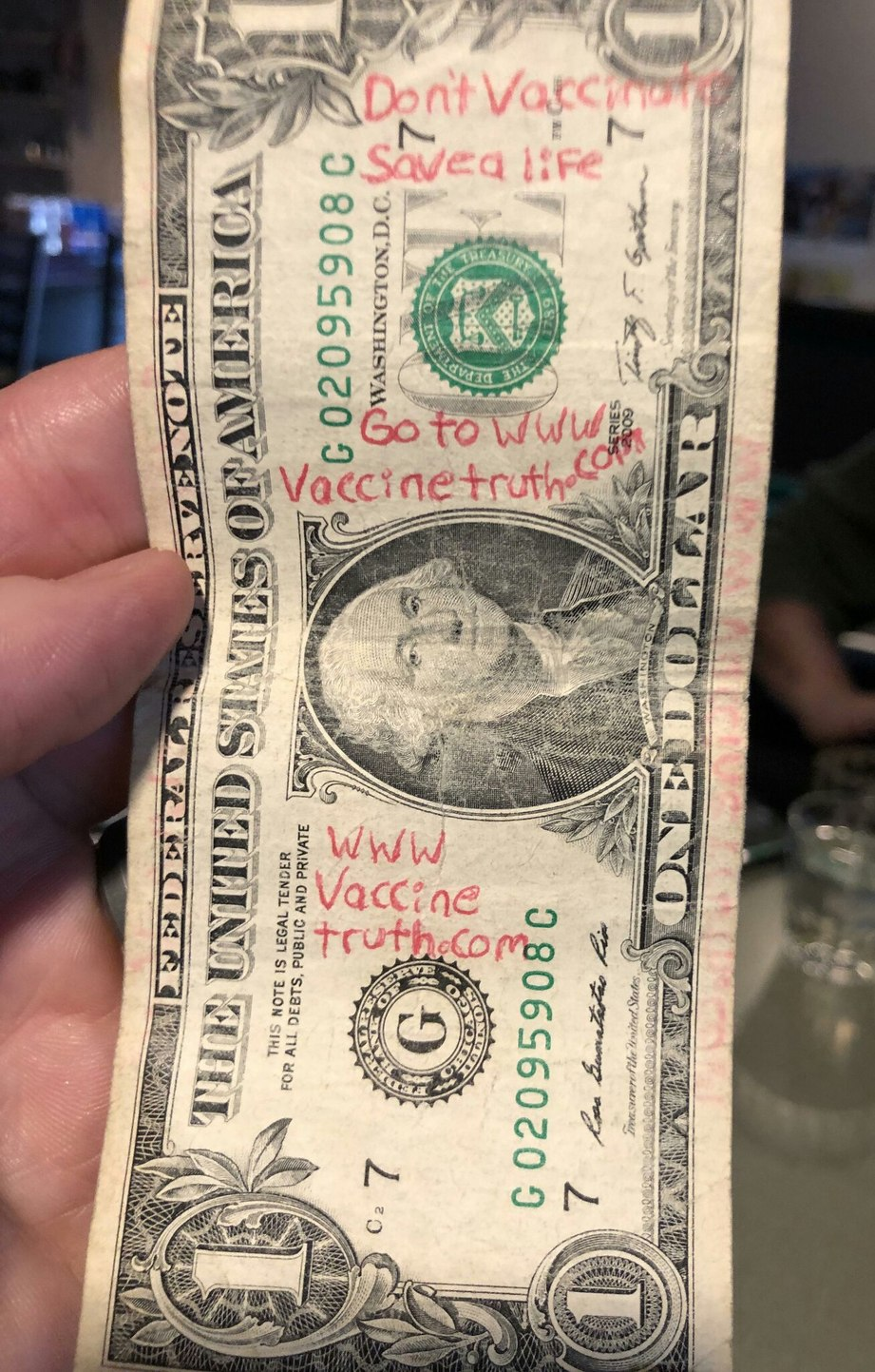 The dollar I got at the bar last night - meme