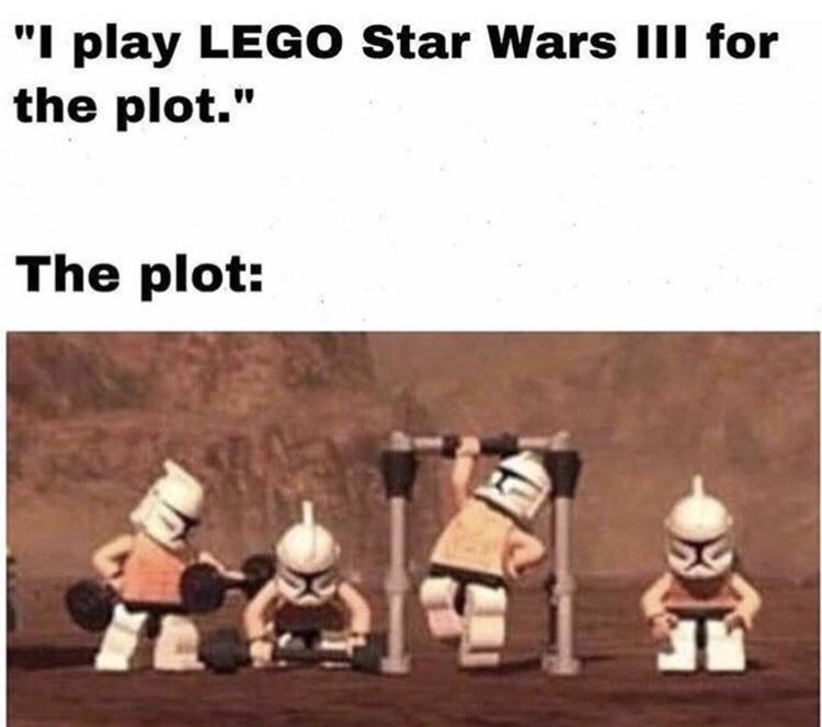 Lego Star Wars >>>> qualquer outro jogo - meme