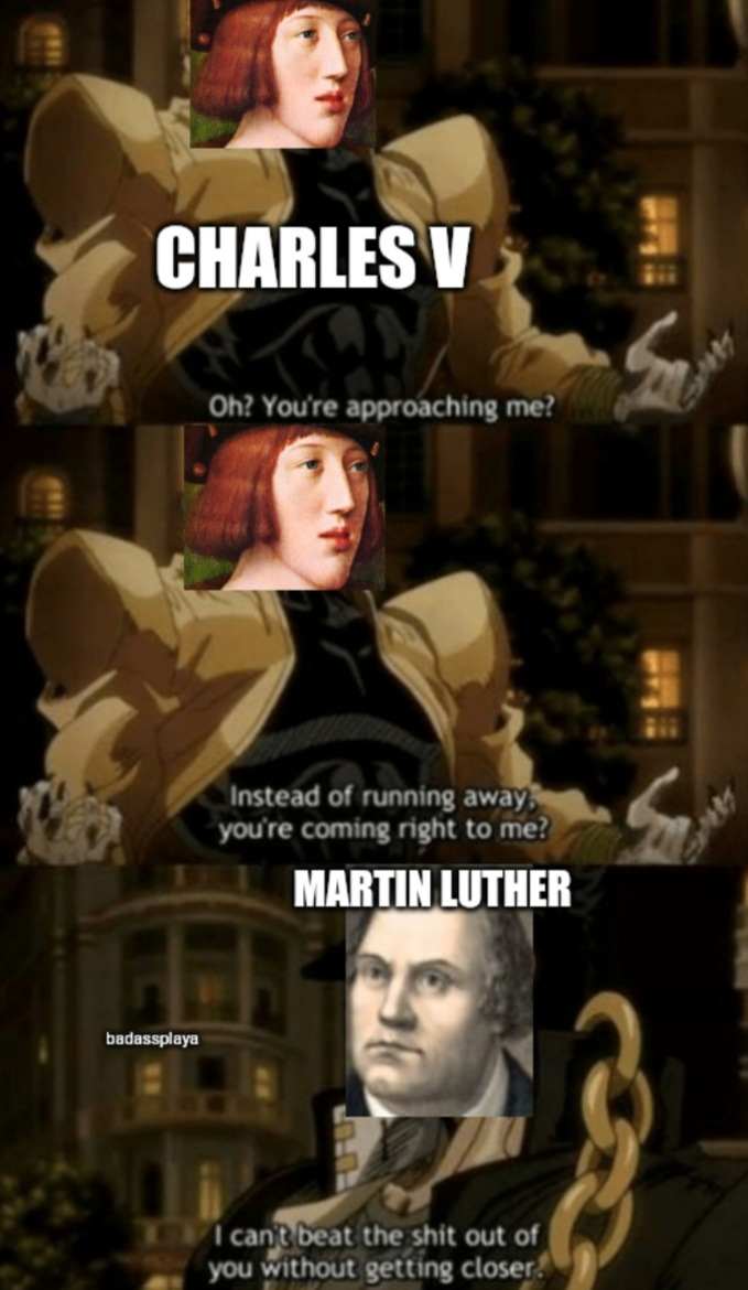 Live from the Diet of Worms - meme