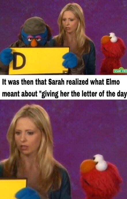 Buffy gets a D - meme