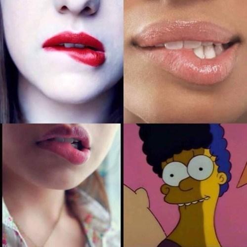 Aquela mordidinha sexy nos labios - meme