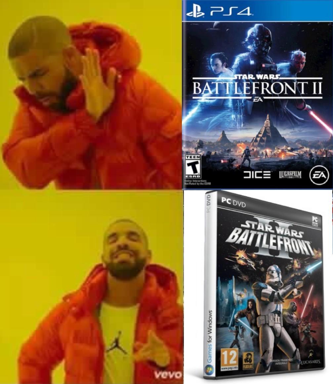 El Titulo esta ahorrando para su ps4 y el Battlefront II - meme