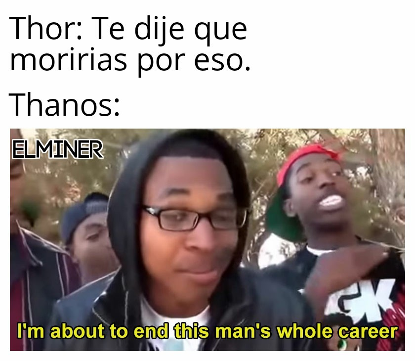 Thor VS Thanos - meme