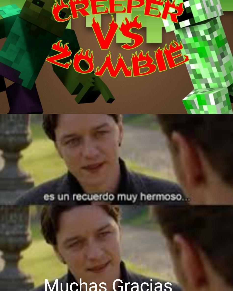 Creeper Vs Zombie - meme