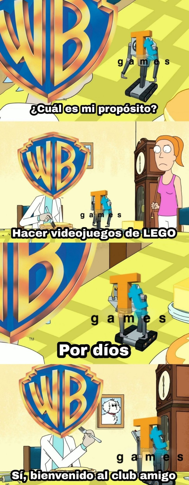 Literalmente los que no son de LEGO son tan pocos que puedes contarlos con los dedos de las manos - meme