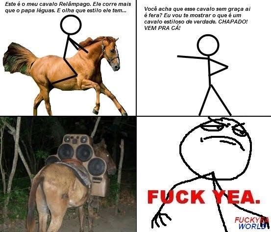 Cavalo tunado - meme