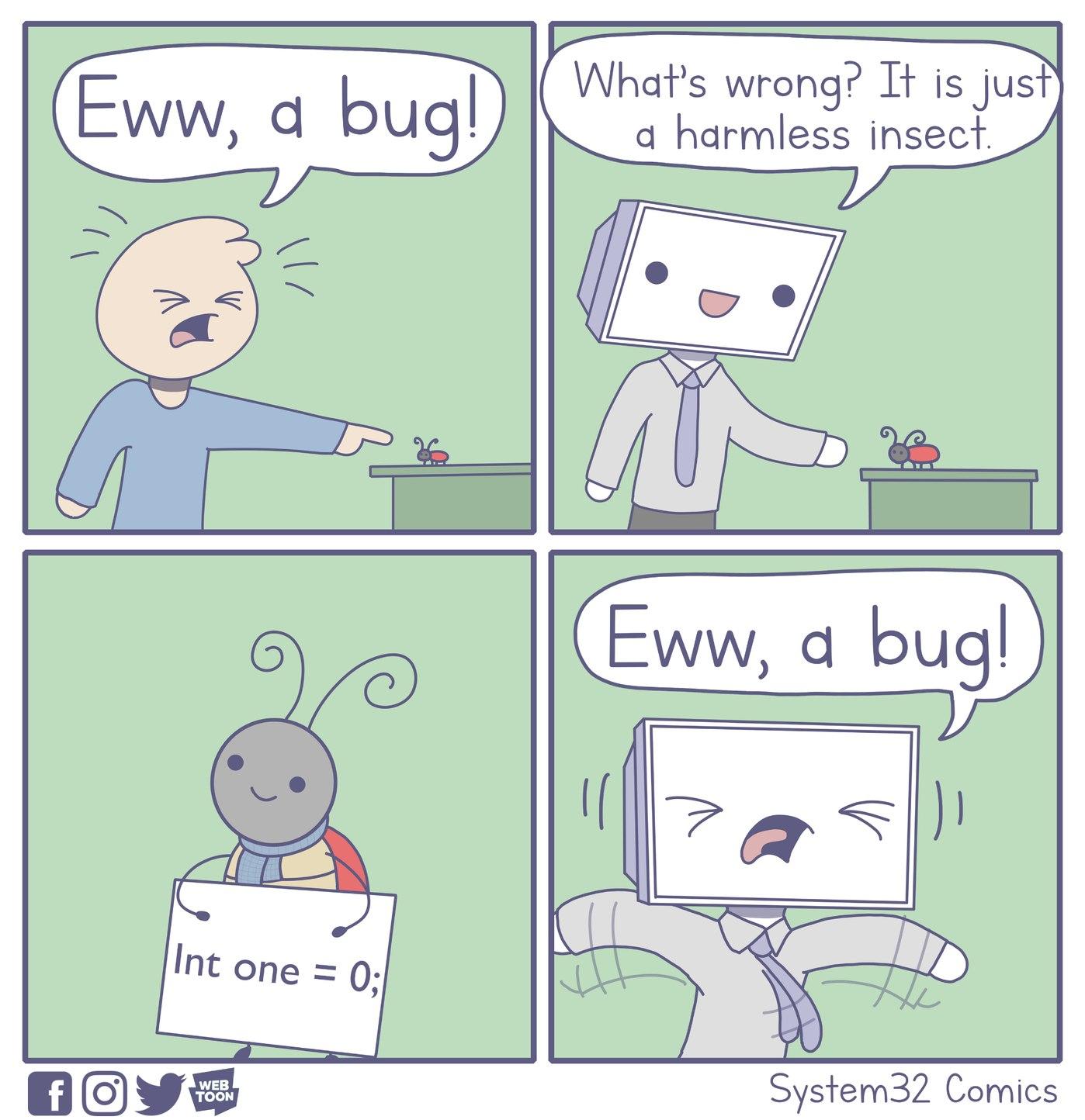 Eww a bug! - meme