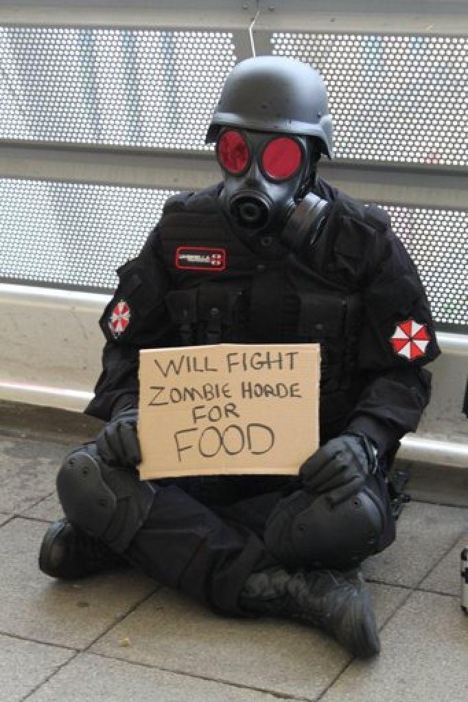 Lucharé contra la horda zombie por comisa - meme