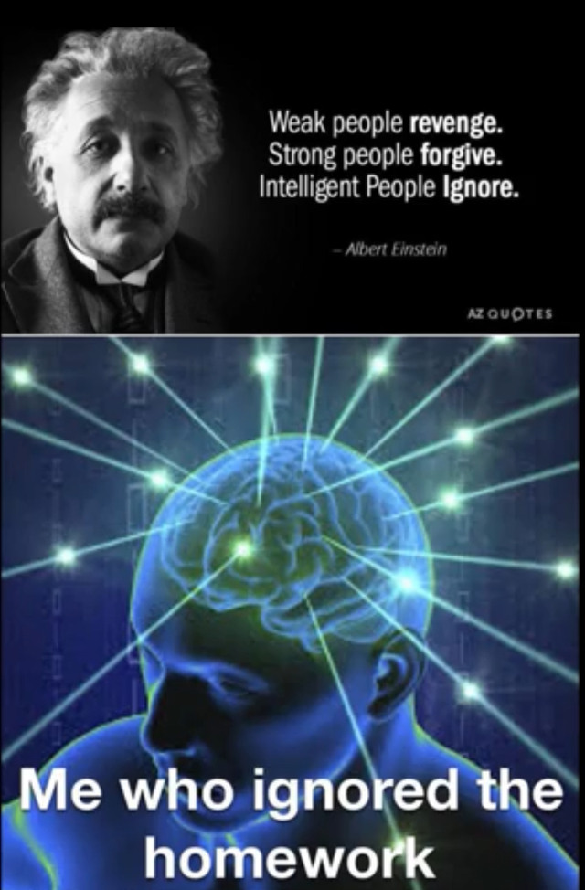 Signs you are actually intelligent - meme