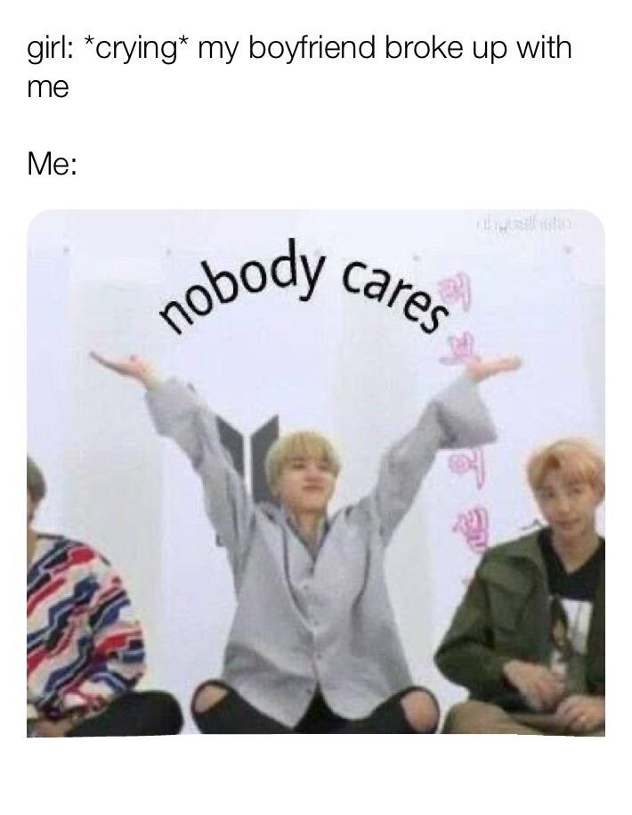I really don't care - meme