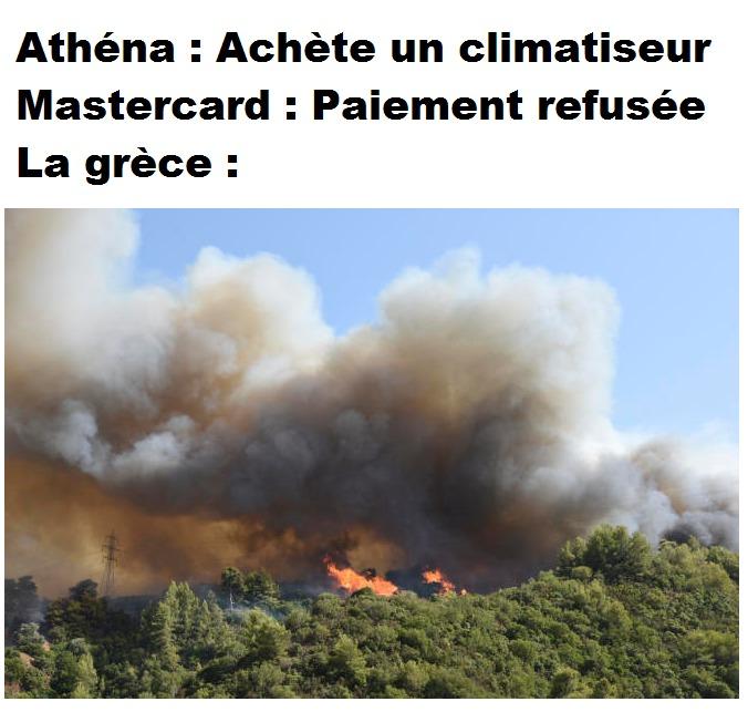 Si seulement athéna a pu acheter le climatiseur :/ - meme