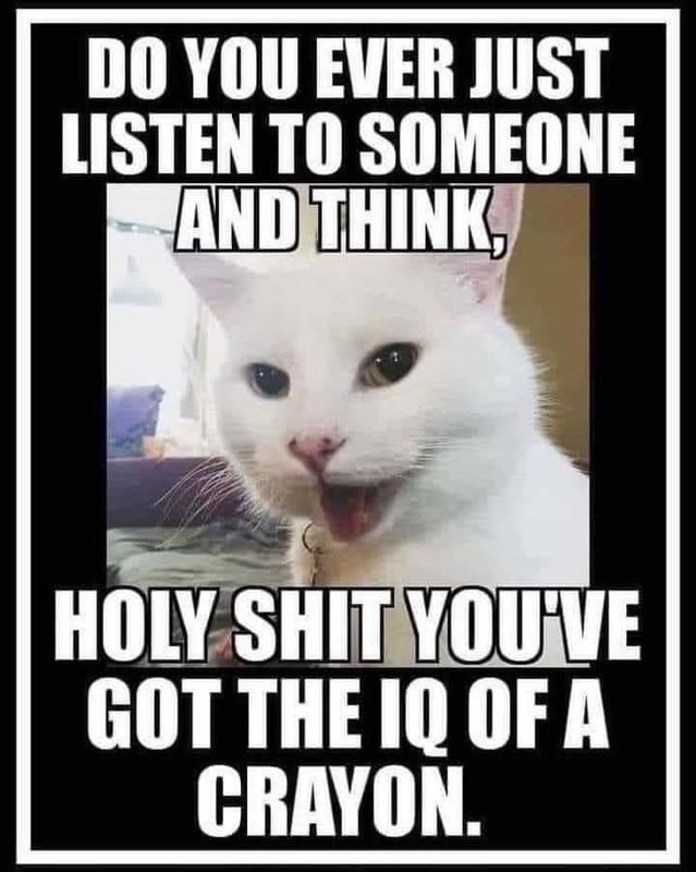 IQ of a crayon - meme
