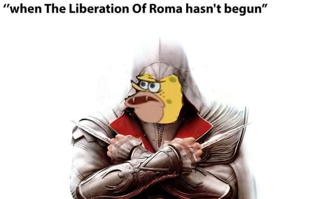 Quando a libertação de roma não começou - meme