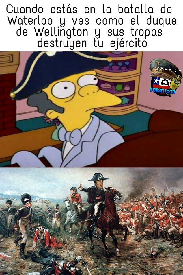 La caida del pobre Napoleón - meme