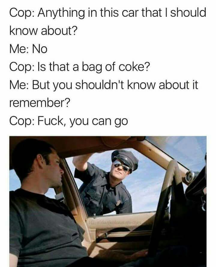 Stopped by police - meme