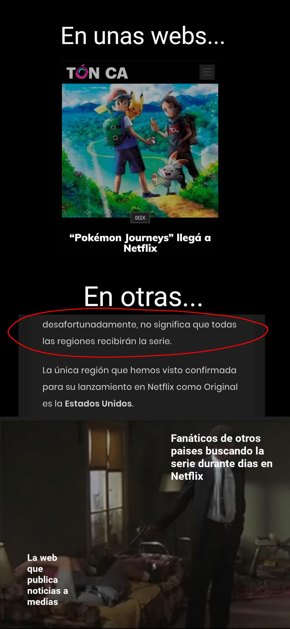 Se estrenó Pokémon en Netflix el 12 de junio... - meme