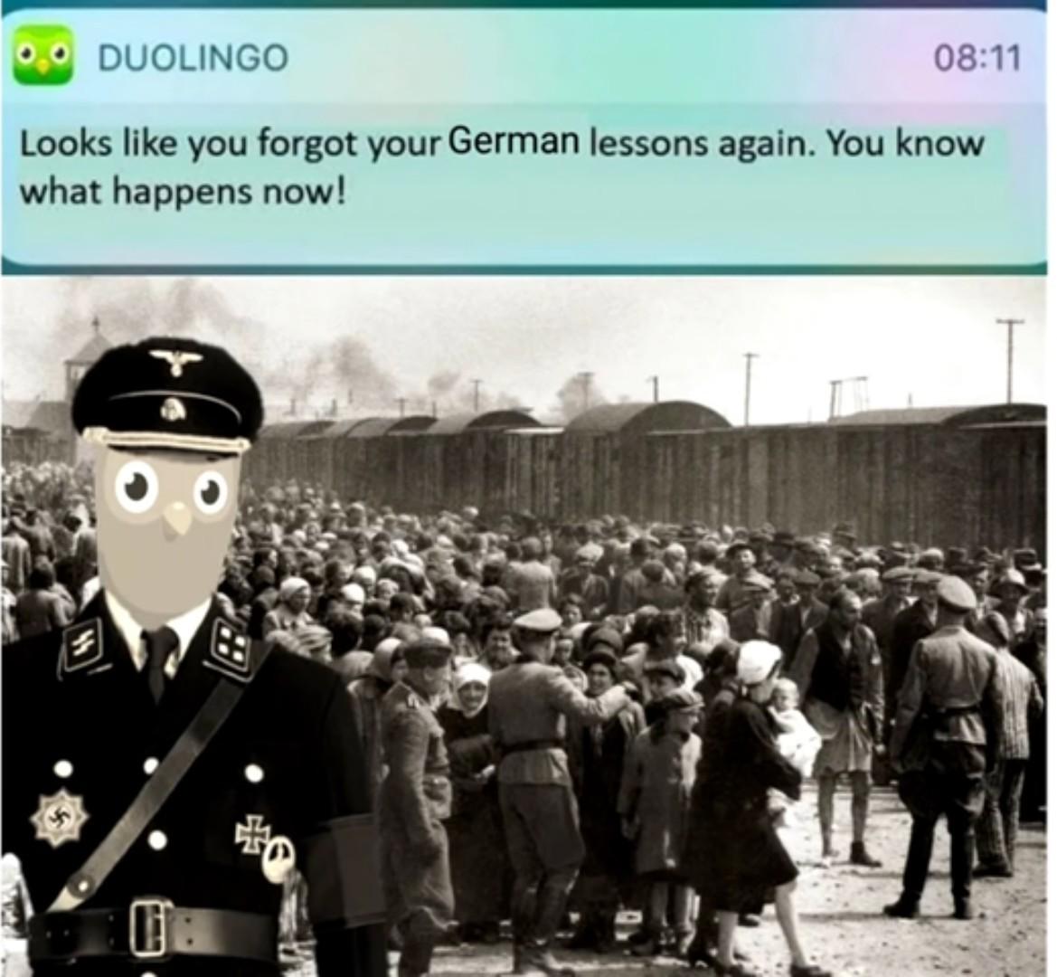Demain j'ai Allemand, vive les 4 de moyn - meme