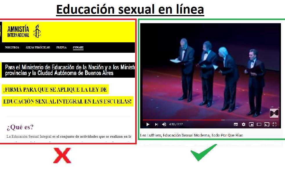 Educación Sexual en Línea. - meme