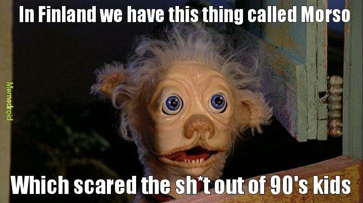 Scary puppet Morso - meme