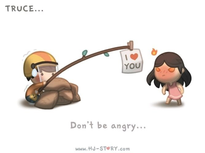 Don't be angry - meme