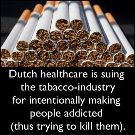 Dutch Gov vs Tobacco - meme