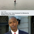 Office worker cuts 1 hour commute to 6 minutes by paddling across the river