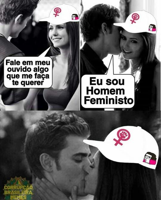 Sou homem feminista, vai encarar? - meme